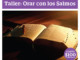 Taller: Orar con los Salmos
